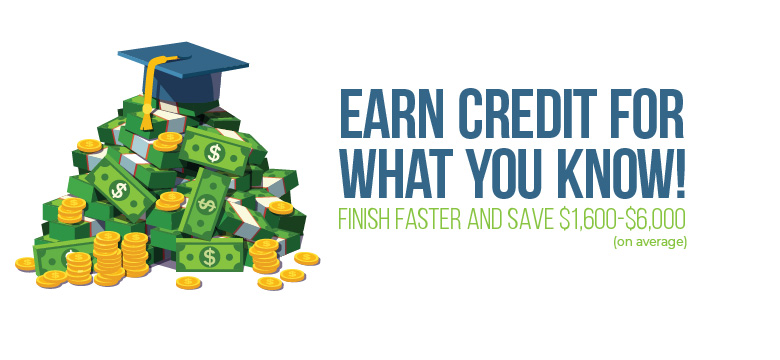 Earn Credits for what you know. Save $1,600-$6,000 on average.