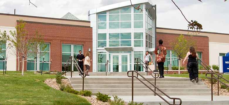 Exterior of Welcome Center Entrance at Westminster Campus