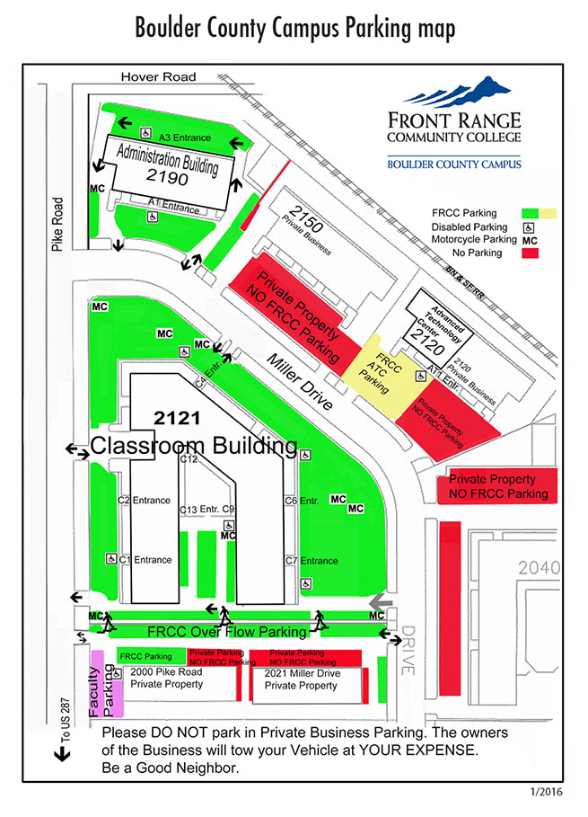 Boulder Campus Parking Map