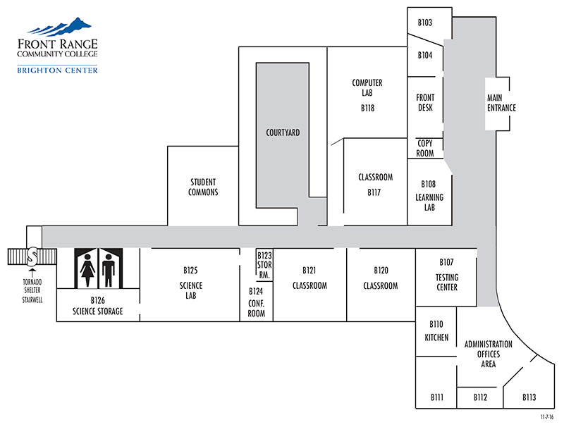 Layout of Brighton Center