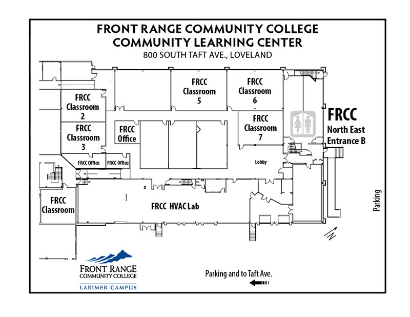Map of Larimer Campus - Community Learning Center