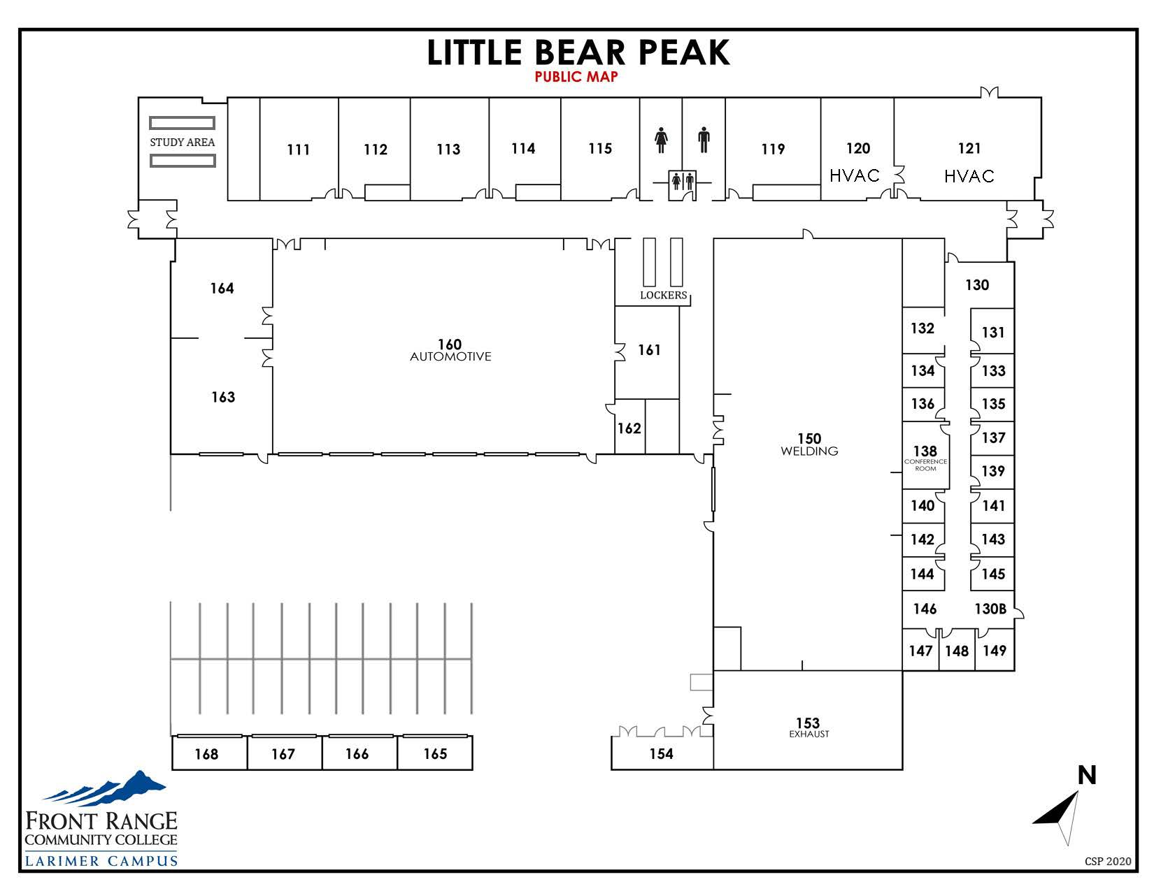 Map of Larimer Campus - Little-Bear-Peak