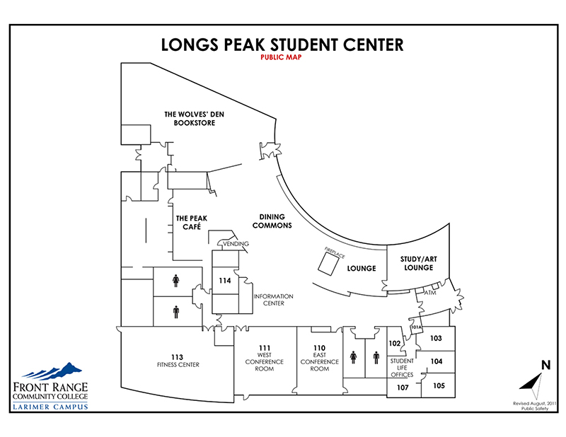 Map of Larimer Campus - Longs Peak Student Center