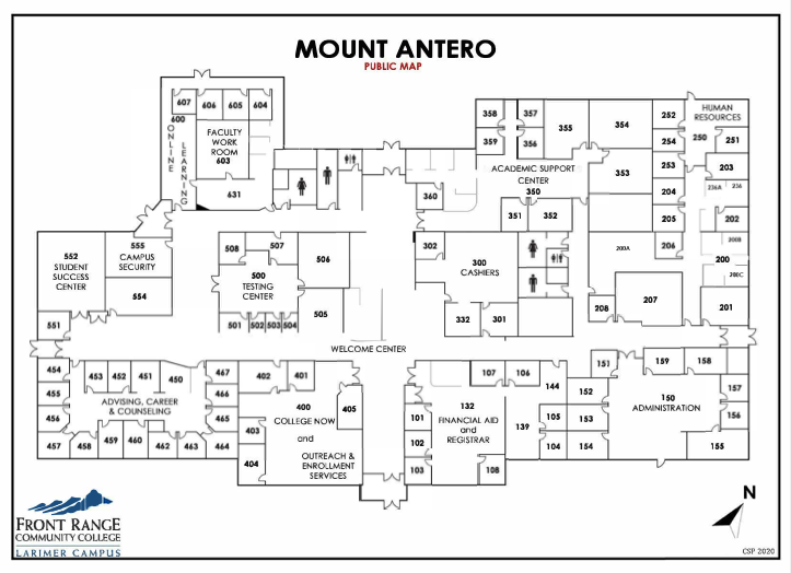 Map of Larimer Campus - Mount Antero