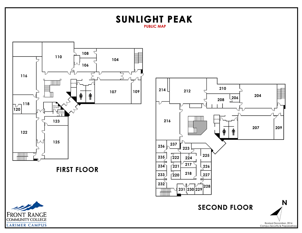 Map of Larimer Campus - Sunlight Peak