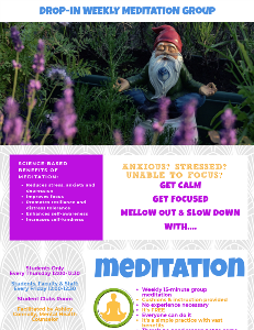 Meditation Group Flyer 2019
