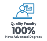 Quality Faculty- 100% Have Advanced Degrees