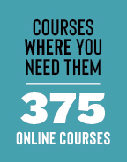 Classes where you need them. 270 online classes.
