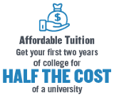 Tuition Savings- $11K saved at FRCC for two years of a 4-year education